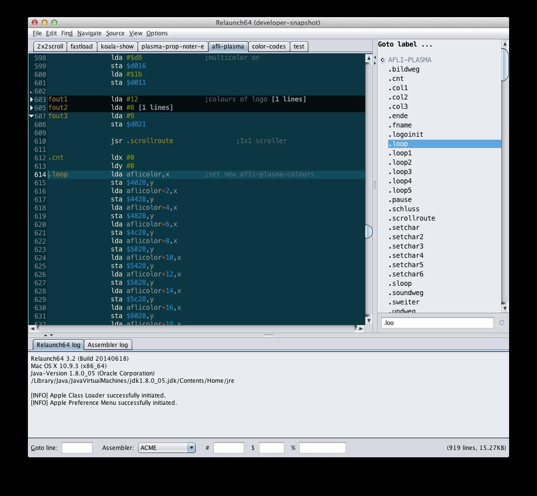 Relaunch64 - A C64/65xx cross-development IDE by Testicle